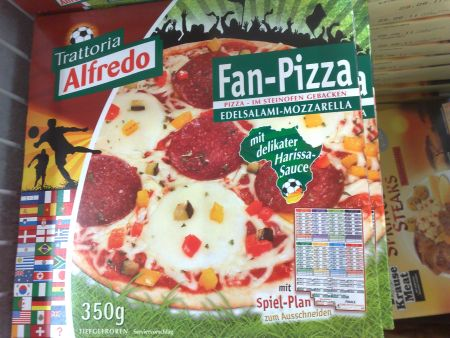 Fan-Pizza zur WM
